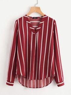 Модная асимметричная блуза с V-образным вырезом