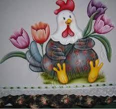 Resultado de imagem para pintura galinha