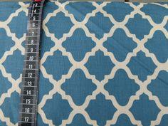 Stoff Ornamente - petrolfarbener Stoff von Serenata - ein Designerstück von die-kreativen-adern bei DaWanda