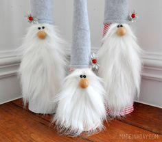 Holiday Gnome tutorial on madeinaday.com