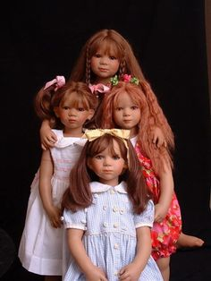 by Annette Himstedt -- who no longer is making dolls in her factory!  Find one if you can! __ DSina, Minni, Ineke, Elina