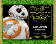 Save the Date...JR is turning 8!!  Invitation  Star Wars Invite  A Force Awakens by LTAPrints