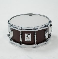 """Sonor 14 x 6.5"""" D 516 MR Phonic Re-Issue Beech Snare Drum in Semi Gloss Mahogany Veneer Finish. 8.5mm 9ply Beech Shell, 45 Degree Bearing Edges 10 Lug Die-Cast Hoops; Chrome Hardware and Fittings."""