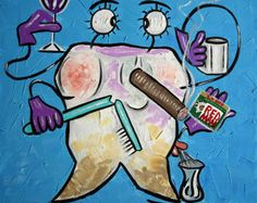 Wisdom Tooth  Beautiful Original Museum Quality Open Edition print/ poster By International American Artist Anthony Falbo  Size: 18x 24  Excellent