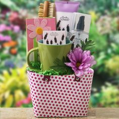 For Mom Only Gift Basket...you can easily do this yourself.