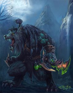 The greatest Worgen rogue artwork I've ever seen.