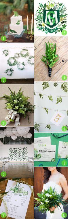 Top 10: Fern details  Wedding Colour Palette - #WeddingColourPalette #AmandaDouglasEvents