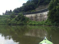 Bass fishing by kayak