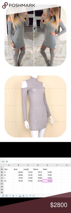 🎉comimgsoon🎉 off shoulder neck sweater dress Material :   Knit cotton blend.                                 Brand new with tag.                                                 Bundle discount 15%.                                              If you want more than two items let me know, I can make you a list with more discount.       This item will be coming in in around two weeks. If you want to be notified please simply press like. I will drop the price the time they are coming so you…
