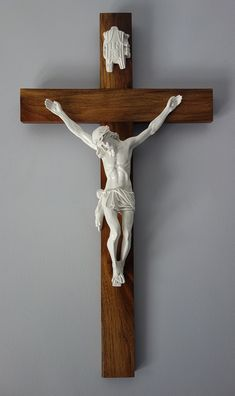 crucifix | This month we've recently finished a unique golden American Walnut ... Sculpture Art, Sculptures, Divine Grace, Wooden Crosses, Christian Devotions, Holy Cross, American Walnut, Cross Designs, Clay Art