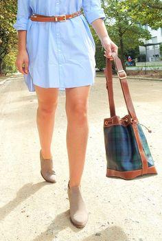 >mini shirt-dress<