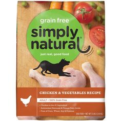 Simply Natural 1 Count Grain Free Chicken and Vegetable Dry Dog Food, 3.5 lb * Hurry! Check out this great product : Dog food types