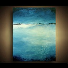 Original Abstract Landscape Seascape Beach Abstract Painting - 11x14 - Turquoise Abstract Art by Marie. $59.00, via Etsy.