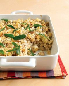 Chicken-Sausage and Bean Casserole with Sage Recipe