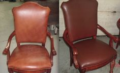 Check out the restoration of these leather dining chairs!