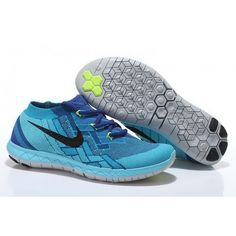newest 48619 23a2e Mens Nike Free 3.0 Flyknit Runing Shoes Blue Fluorescent Cheap Nike Running  Shoes, Buy Nike