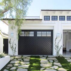 Love the black door and the drive