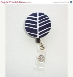 Christmas in July SALE  Retractable ID Badge Holder Reel by Laa766, $5.75  chic / cute / preppy / fabric / covered button / clip-on / retractable cord / patterned / co-worker gifts / gifts under $10         clip these onto scrubs, shirts, key fobs, lanyards, belts, purses, or school backpacks