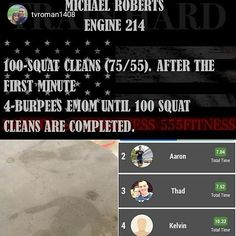 ACTION SNAPSHOT OF THE FREE 555 FITNESS APP #Repost @tvroman1408 Thanks #555fitness for the great workouts. Today's station workout was this plus a tabata of HSPU double unders and 135 lb. cleans. The double sweat angels are real. Use my coupon code 'Burpees' S www.555fitness.com #fdic2016 #showusyour555 #fullyinvolved #thefirefighterthrowdown _____________________________________ Want to be featured? Show us how you train hard and do work Use #555fitness in your post and tag your fri...