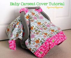 I Dig Pinterest and I Did it Too!: Baby Carseat Cover Tutorial