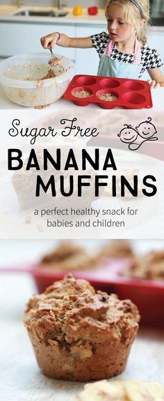 My Sugar Free Banana Muffins are the perfect snack or breakfast for babies and children (or yourself!) For baby, give as a finger food and let your little one self-feed.
