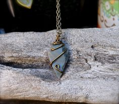 Arrowhead Necklace // Petite Stone Pendant // by GypsyGemsHawaii