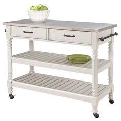 Savannah Kitchen Cart in White - Crisp & Clean Kitchen on Joss & Main