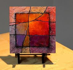 Gemstone 23 by Carol Nelson mixed media ~ 6 x 6