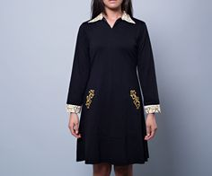 Loving this collar dress from #zankhnadesigns.... the gold detailing is to die for!