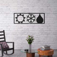 Deccort | Season Metal Tablo Seasons, Metal, Home Decor, Homemade Home Decor, Seasons Of The Year, Metals, Interior Design, Home Interiors, Decoration Home