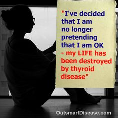 The statistics are shocking: an astonishing 78.4% of respondents felt that they did NOT fully regain their optimal state of #health following the thyroid treatment. How do you feel on your current thyroid treatment? http://outsmartdisease.com/how-hypothyroidism-affects-quality-of-your-life/