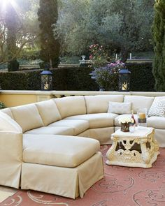 Outdoor Upholstered Sectional at Neiman Marcus.