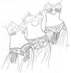 AF05 -    Tahia's Alibeck's Belly Dance Belts Pattern (Belly Dance) on Etsy, $9.25