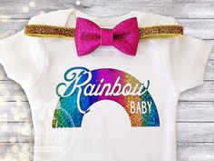 Hey, I found this really awesome Etsy listing at https://www.etsy.com/listing/252714343/rainbow-baby-baby-announcement-outfit
