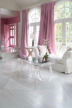 pretty pink drapes