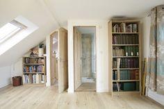 Loft Conversion Design Ideas, Pictures, Remodel, and Decor Loft Conversion Design, Loft Conversions, Free Standing Shelves, Modern Basement, Small Loft, Attic Design, Small Basements, Traditional Bedroom, Bedroom Loft