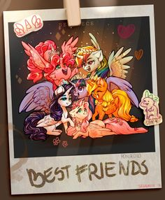 Six princesses of friendship (also Spaik) by Segraece.deviantart.com on @DeviantArt