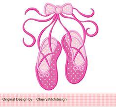 Ballet shoes AppliqueBallet embrideryBallet by CherryStitchDesign