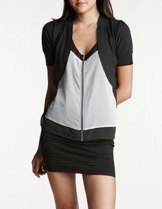 CR - Short Sleeve Knit Shrug $20
