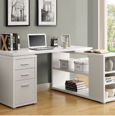 Monarch Hollow Core Left Or Right Facing Corner Desk White Desks At Hayneedle