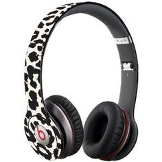 Black and White #Leopard Decal Skin for Beats Solo HD #Headphones by Dr. Dre $19.95