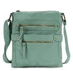 Scarleton Small Crossbody Shoulder Bag for Women, Ultra Soft Washed Vegan Leather, Crossbody Shoulder Bag, Crossbody Bag, Cross Body Handbags, Vegan Leather, Leather Handbags, Reusable Tote Bags, Purses, Zipper, Casual