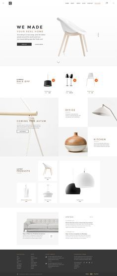 Chameleon Shop PSD Template is an unique eCommerce PSD template for on online shopping store. Designed base on free font, resizable vector icons with clean and simple UI, this optimised for furniture and home goods store… Design Websites, Web Design Trends, Web Flat Design, Ios App Design, Web And App Design, Web Design Mobile, Minimal Web Design, Ecommerce Web Design, Interface Design