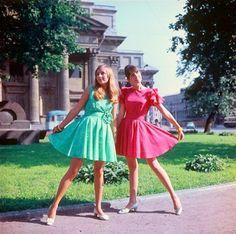 Female fashion, USSR, 1980s