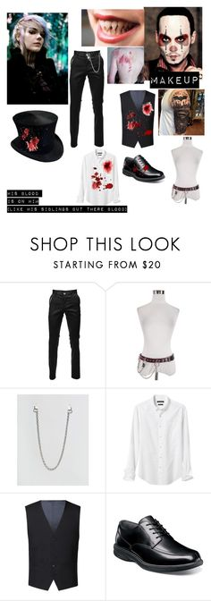 """""""Creepy pasta circus boy"""" by bandloverforever12 ❤ liked on Polyvore featuring Chained + Able, Banana Republic, Racing Green, Nunn Bush, men's fashion and menswear"""
