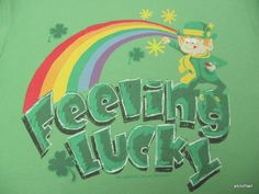 Lucky Charms General Mills Feeling Lucky St Patrick's Day Novelty Shirt Large $19.99