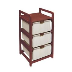 Badger Basket Company Three Drawer Hamper/Storage Unit in Cherry --- http://bizz.mx/j4d