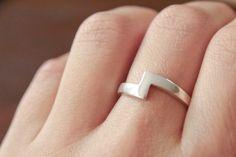 Zag Ring - Kelsey Larsen Designs // www.kelseygrape.com