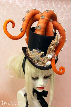 Octopus Tentacle Hat - Steampunk Victorian Masquerade Top Hat