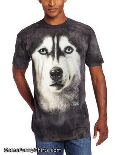 824e401d3 The Mountain Siberian Face Adult T-shirt 5XL Black Siberian Husky, Husky  Faces,